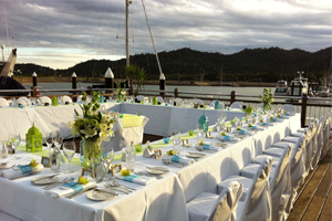 Catering services for a wedding on Magnetic Island