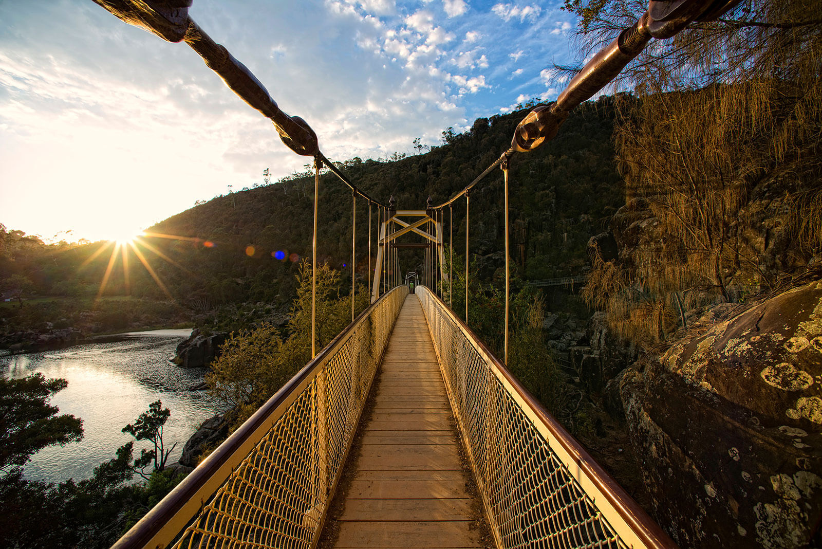 Suspension bridge, Cataract Gorge