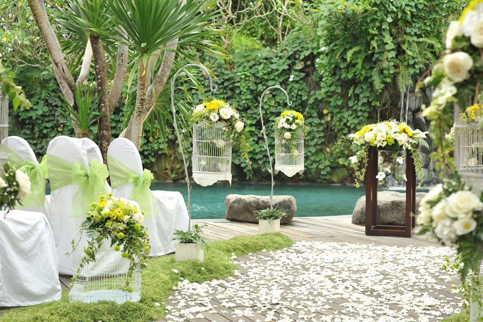 Peppers Seminyak Wedding Setup
